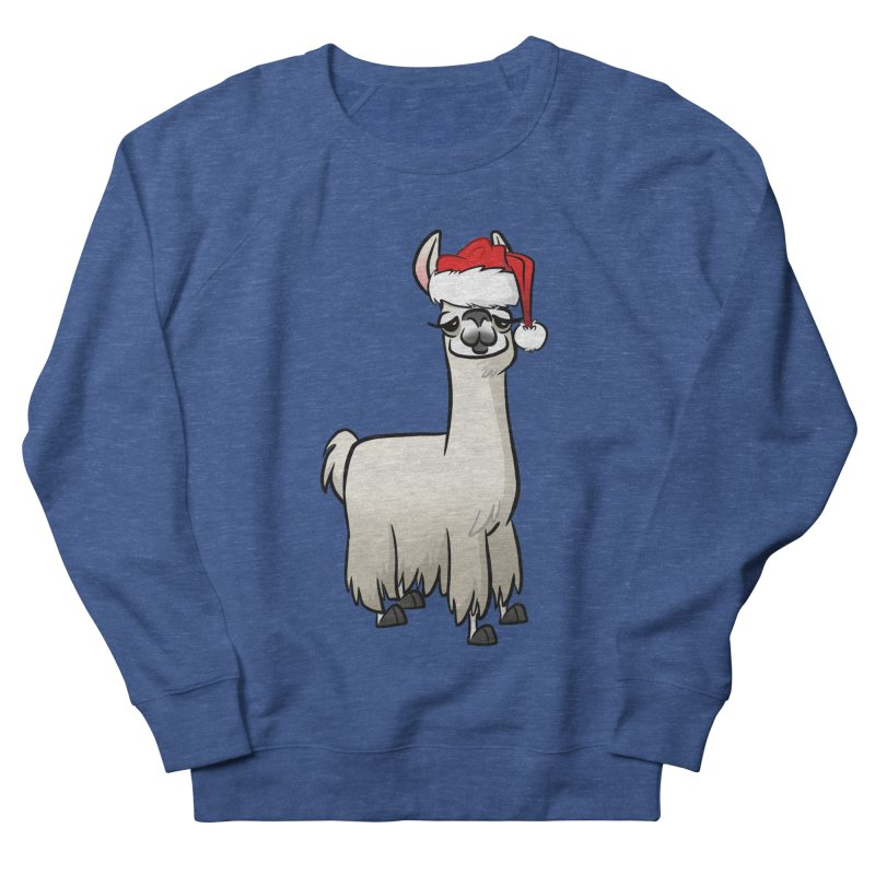Christmas Llama Men's French Terry Sweatshirt by binarygod's Artist Shop