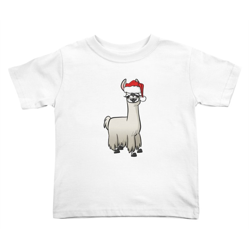 Christmas Llama Kids Toddler T-Shirt by binarygod's Artist Shop