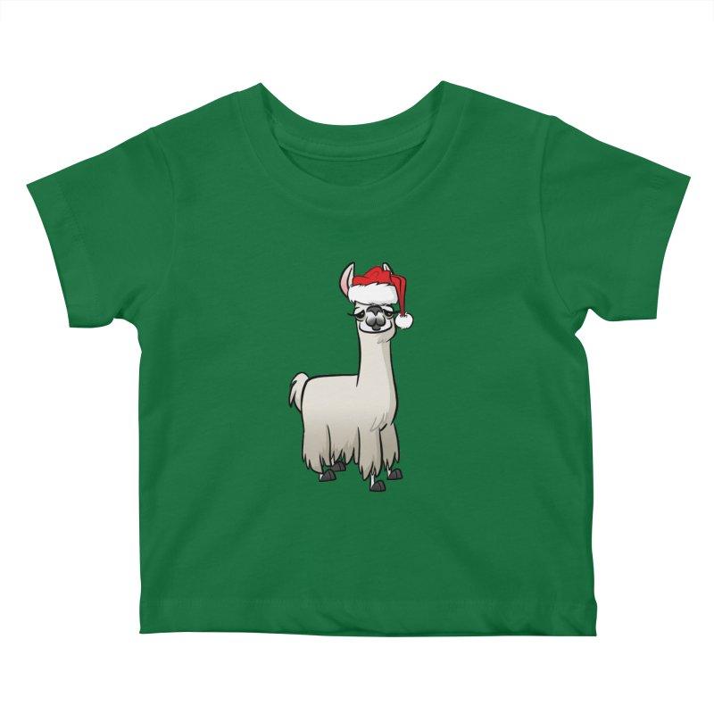 Christmas Llama Kids Baby T-Shirt by binarygod's Artist Shop