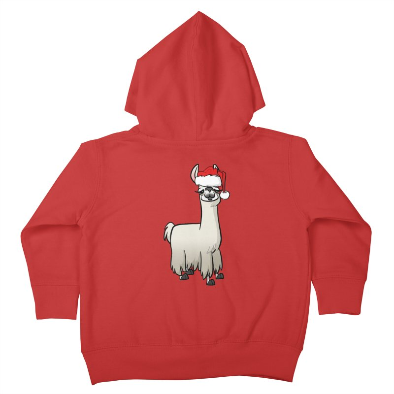 Christmas Llama Kids Toddler Zip-Up Hoody by binarygod's Artist Shop