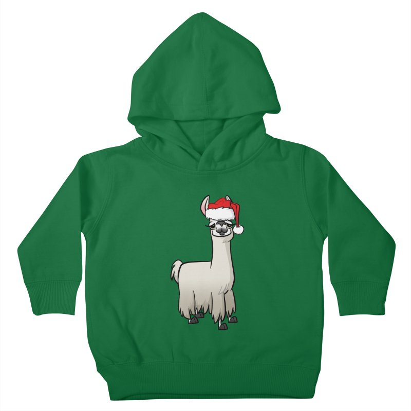 Christmas Llama Kids Toddler Pullover Hoody by binarygod's Artist Shop