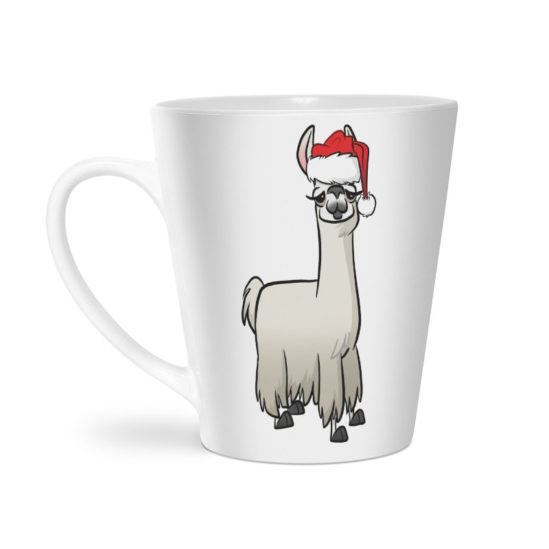 Christmas Llama Accessories Latte Mug by binarygod's Artist Shop