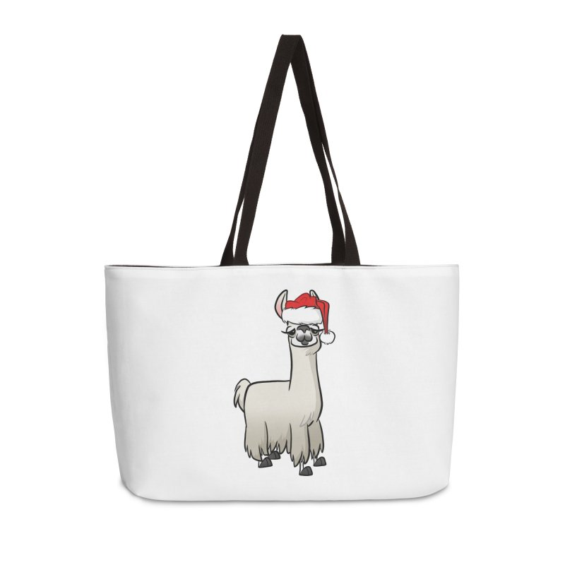 Christmas Llama Accessories Weekender Bag Bag by binarygod's Artist Shop