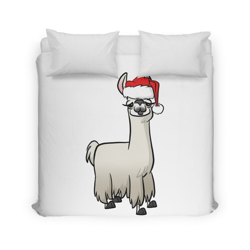 Christmas Llama Home Duvet by binarygod's Artist Shop