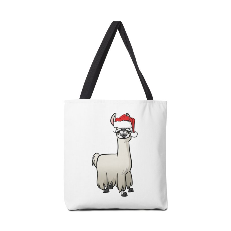 Christmas Llama Accessories Tote Bag Bag by binarygod's Artist Shop