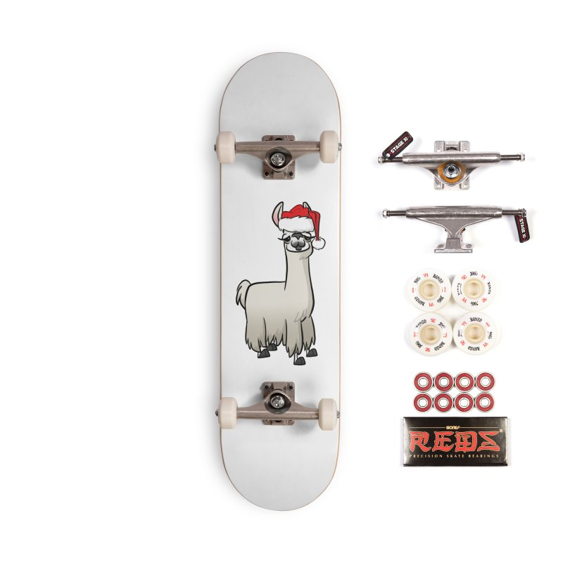 Christmas Llama Accessories Complete - Pro Skateboard by binarygod's Artist Shop
