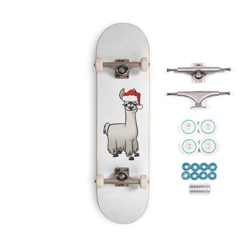 Christmas Llama Accessories Complete - Basic Skateboard by binarygod's Artist Shop