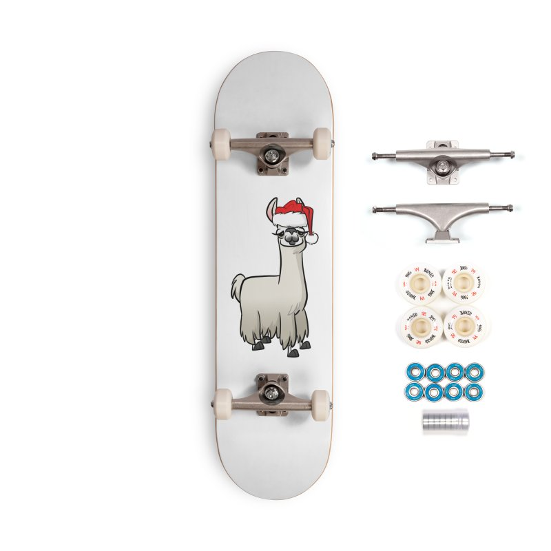 Christmas Llama Accessories Complete - Premium Skateboard by binarygod's Artist Shop