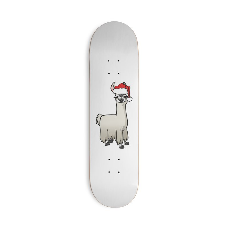 Christmas Llama Accessories Skateboard by binarygod's Artist Shop