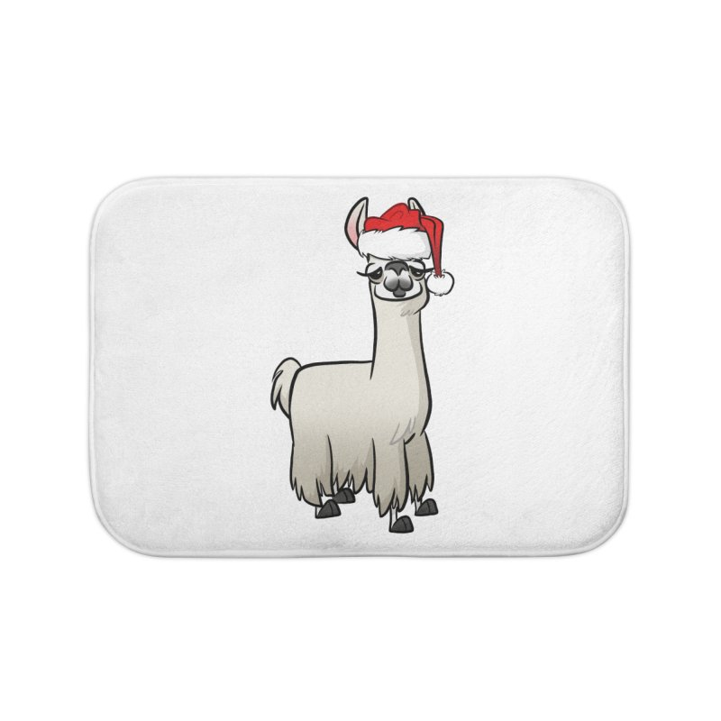 Christmas Llama Home Bath Mat by binarygod's Artist Shop