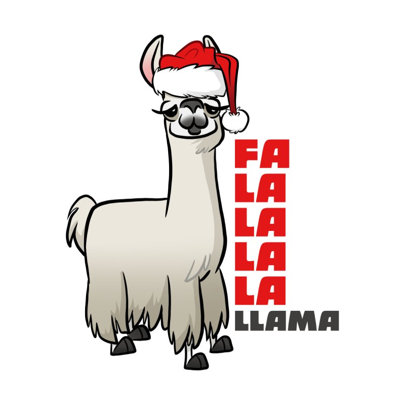 Fa La La Llama Home Bath Mat by binarygod's Artist Shop