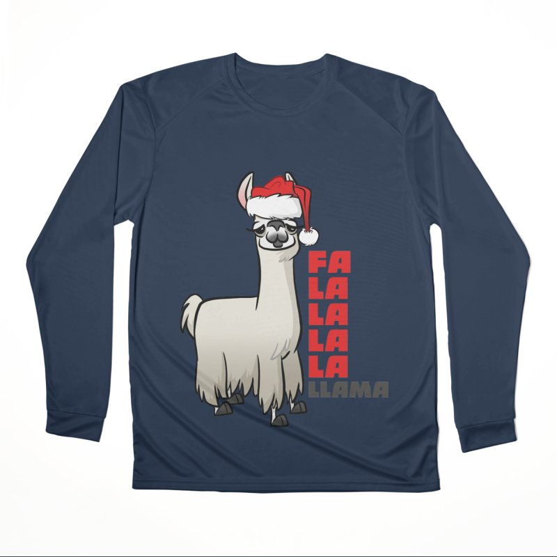 Fa La La Llama Men's Performance Longsleeve T-Shirt by binarygod's Artist Shop