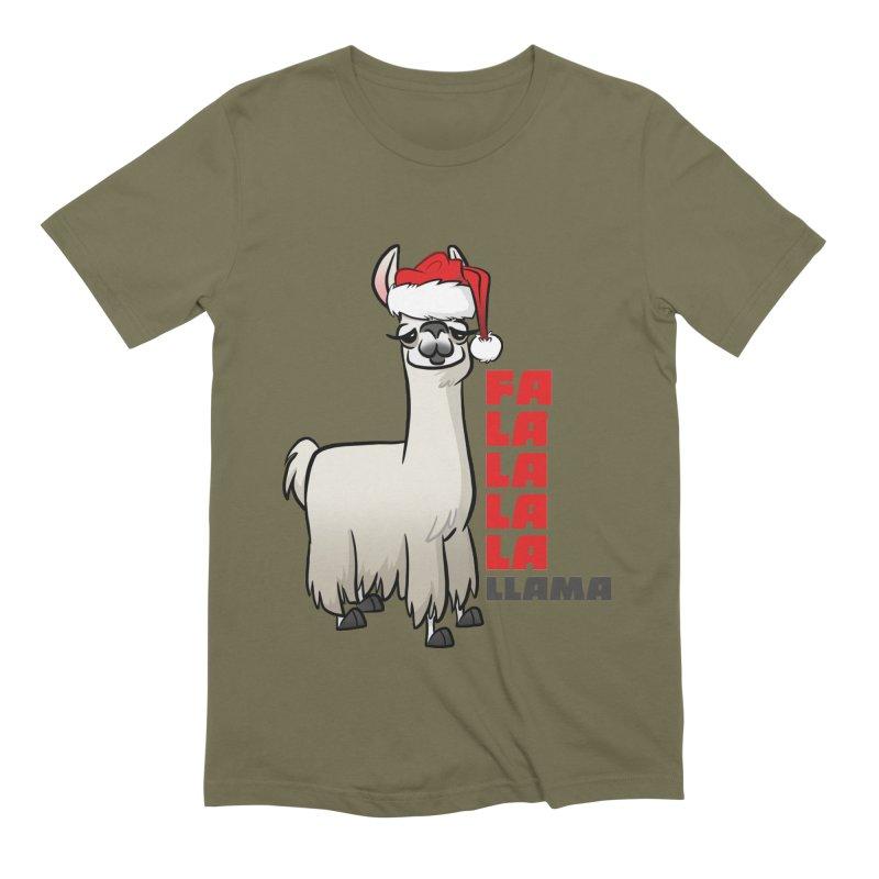 Fa La La Llama Men's Extra Soft T-Shirt by binarygod's Artist Shop