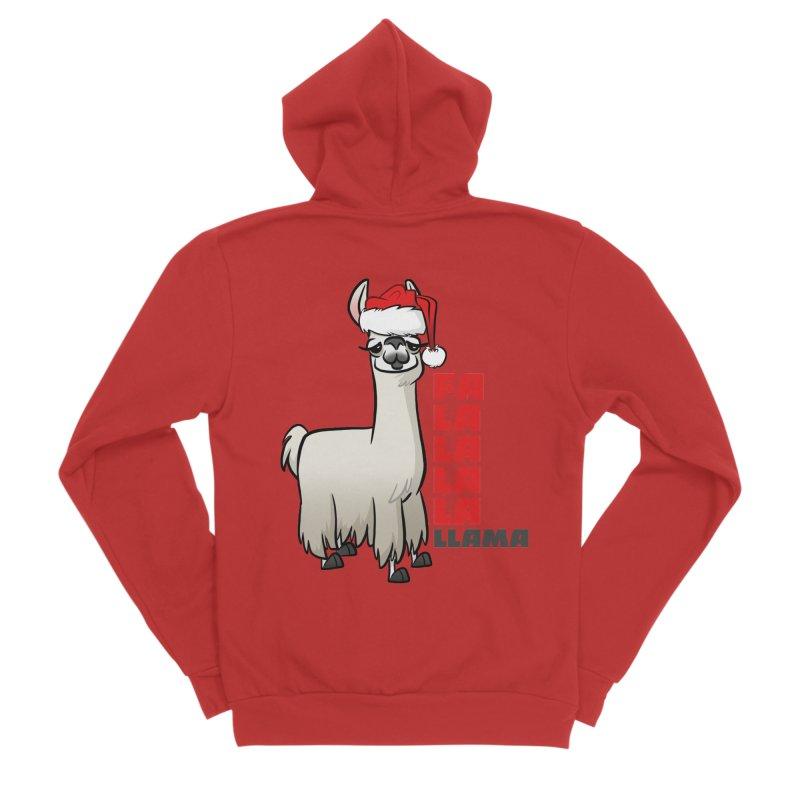 Fa La La Llama Women's Zip-Up Hoody by binarygod's Artist Shop