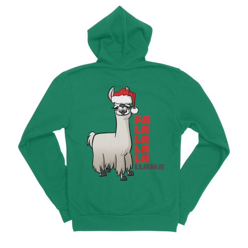 Fa La La Llama Women's Sponge Fleece Zip-Up Hoody by binarygod's Artist Shop