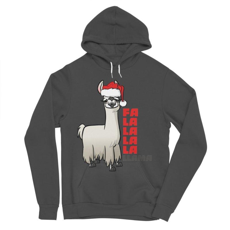 Fa La La Llama Men's Sponge Fleece Pullover Hoody by binarygod's Artist Shop