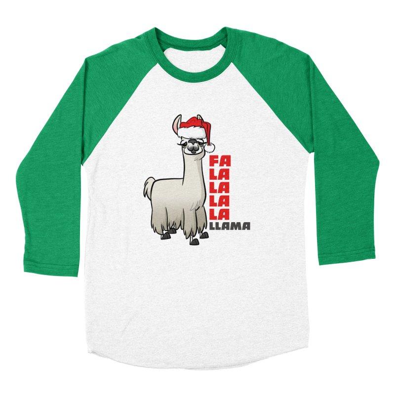 Fa La La Llama Women's Baseball Triblend Longsleeve T-Shirt by binarygod's Artist Shop