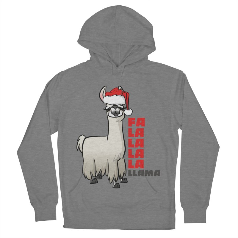 Fa La La Llama Men's French Terry Pullover Hoody by binarygod's Artist Shop