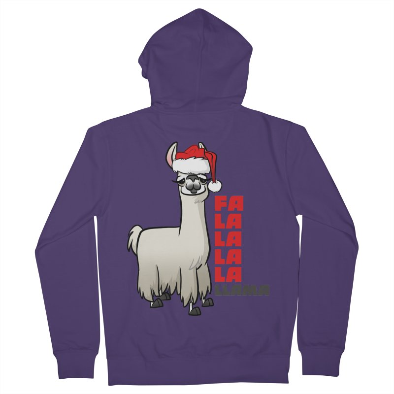 Fa La La Llama Women's French Terry Zip-Up Hoody by binarygod's Artist Shop