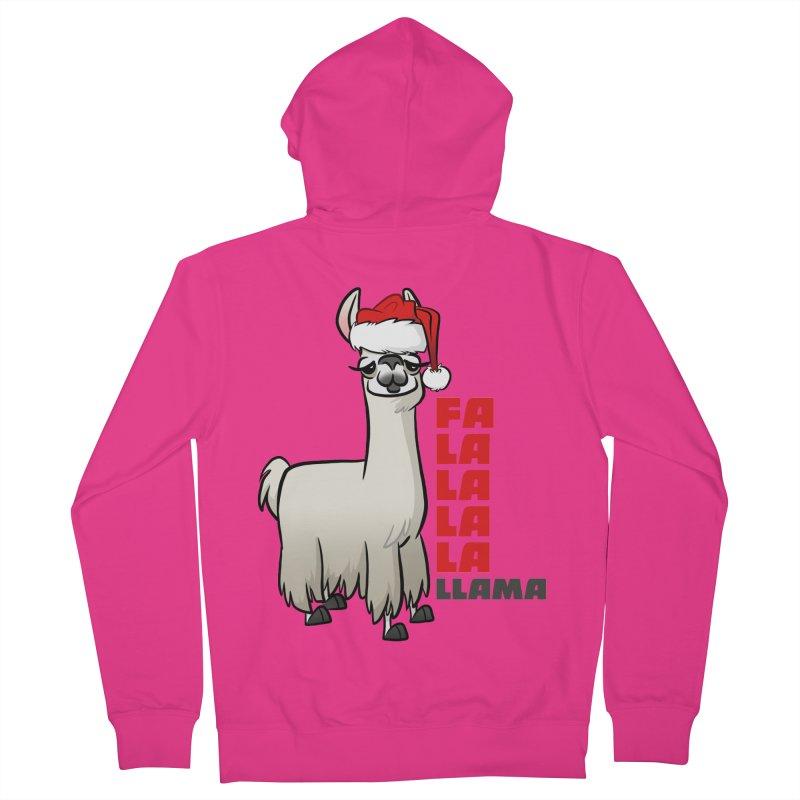 Fa La La Llama Men's French Terry Zip-Up Hoody by binarygod's Artist Shop