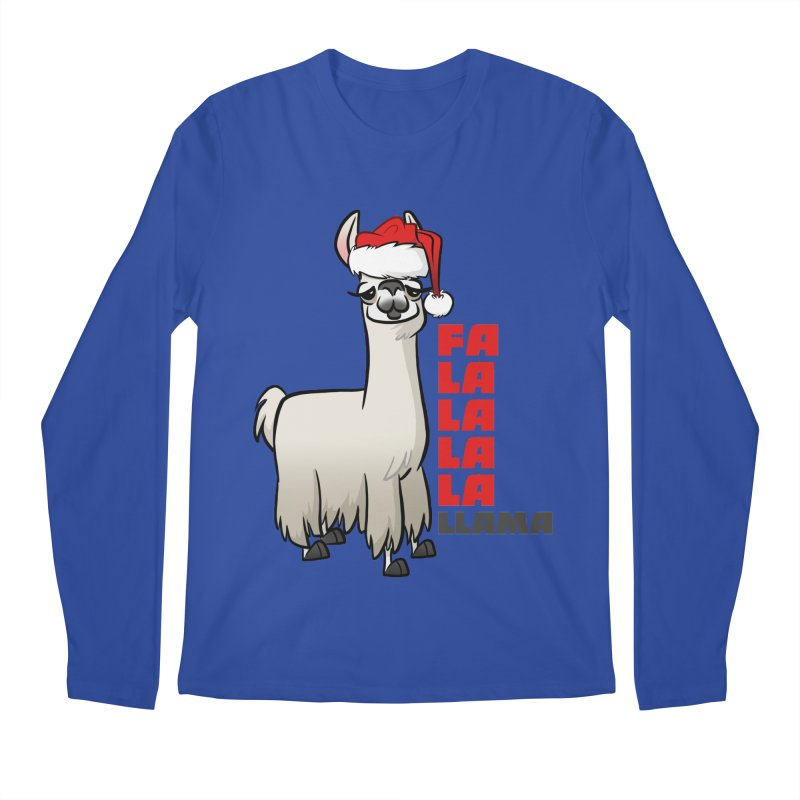Fa La La Llama Men's Regular Longsleeve T-Shirt by binarygod's Artist Shop