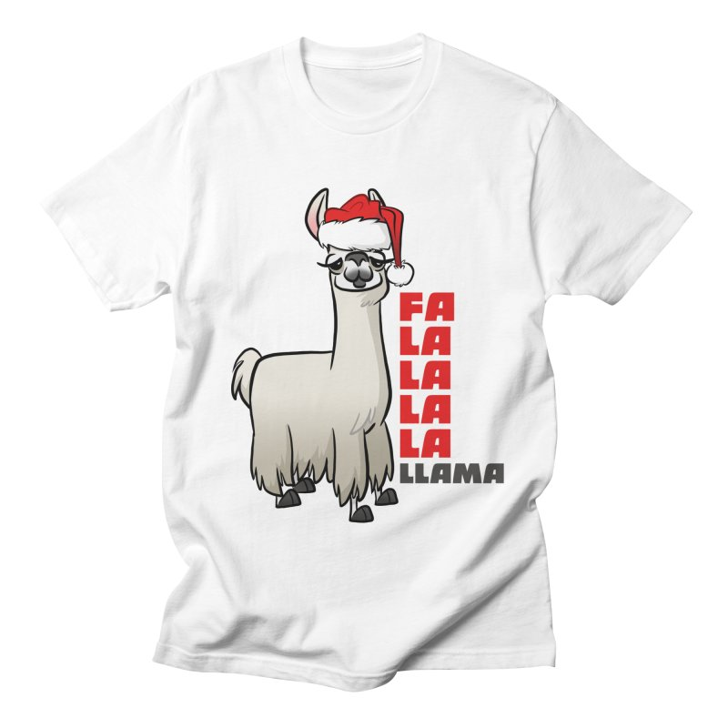 Fa La La Llama Women's Regular Unisex T-Shirt by binarygod's Artist Shop
