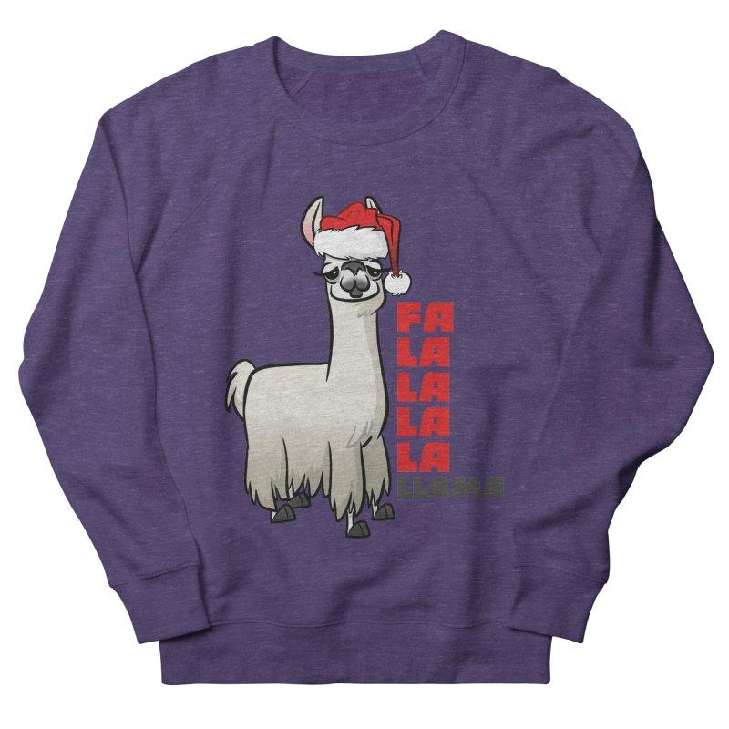Fa La La Llama Women's French Terry Sweatshirt by binarygod's Artist Shop