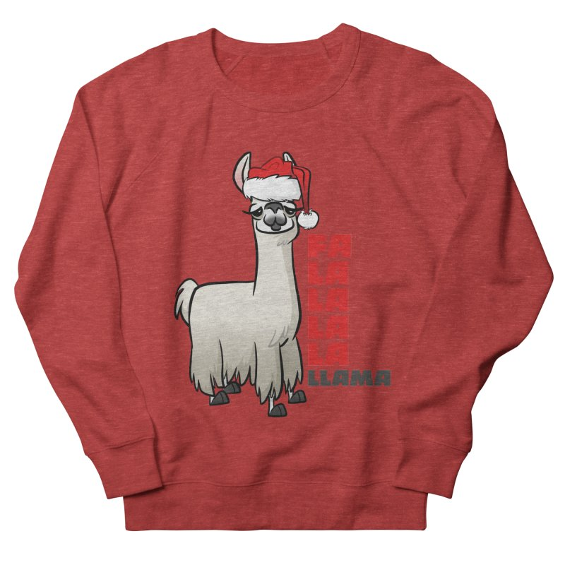 Fa La La Llama Men's French Terry Sweatshirt by binarygod's Artist Shop
