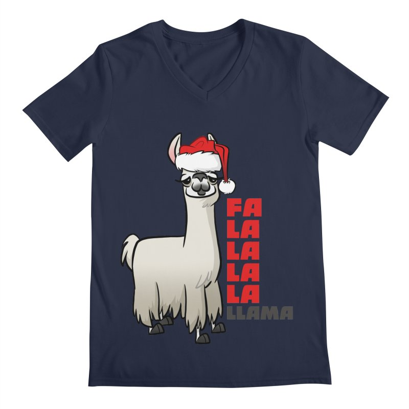 Fa La La Llama Men's Regular V-Neck by binarygod's Artist Shop