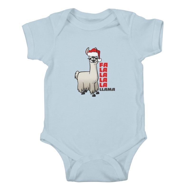 Fa La La Llama Kids Baby Bodysuit by binarygod's Artist Shop