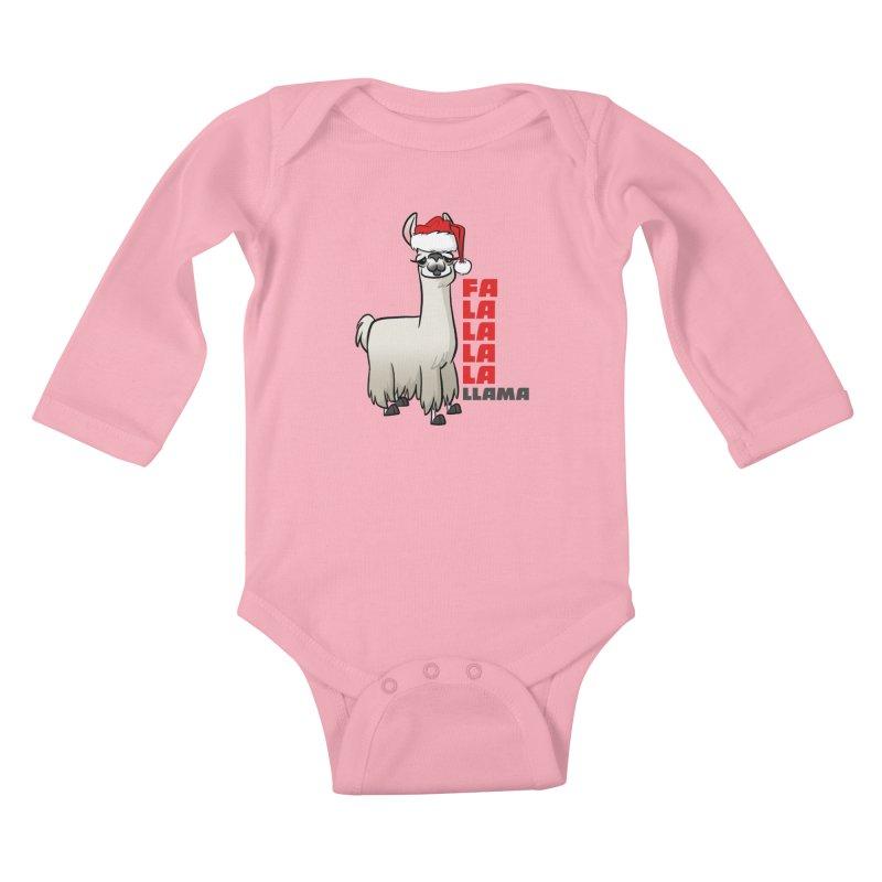 Fa La La Llama Kids Baby Longsleeve Bodysuit by binarygod's Artist Shop