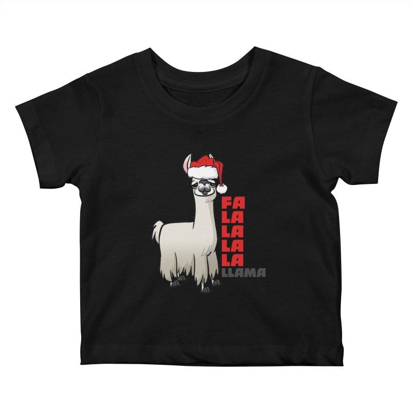 Fa La La Llama Kids Baby T-Shirt by binarygod's Artist Shop
