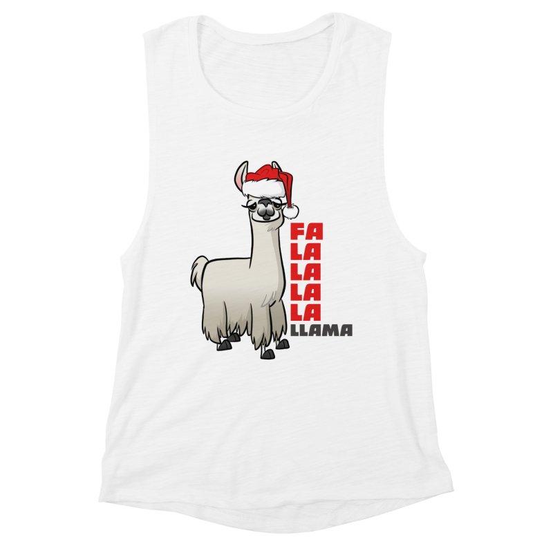 Fa La La Llama Women's Muscle Tank by binarygod's Artist Shop
