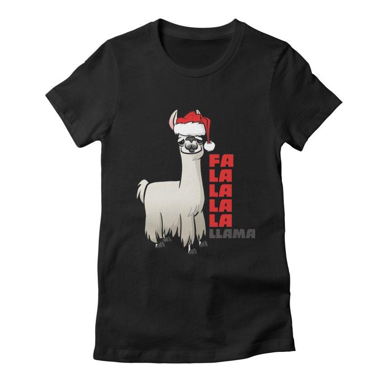 Fa La La Llama Women's Fitted T-Shirt by binarygod's Artist Shop