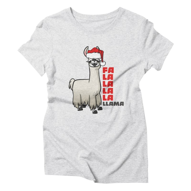 Fa La La Llama Women's T-Shirt by binarygod's Artist Shop