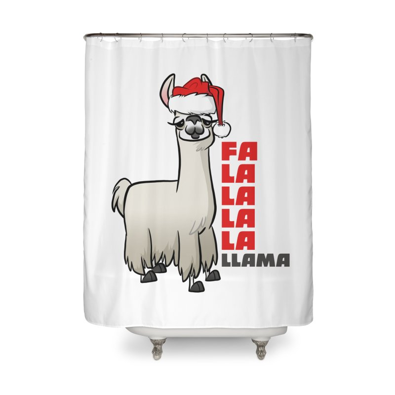 Fa La La Llama Home Shower Curtain by binarygod's Artist Shop