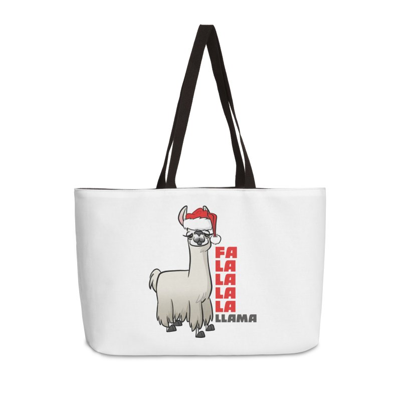 Fa La La Llama Accessories Weekender Bag Bag by binarygod's Artist Shop