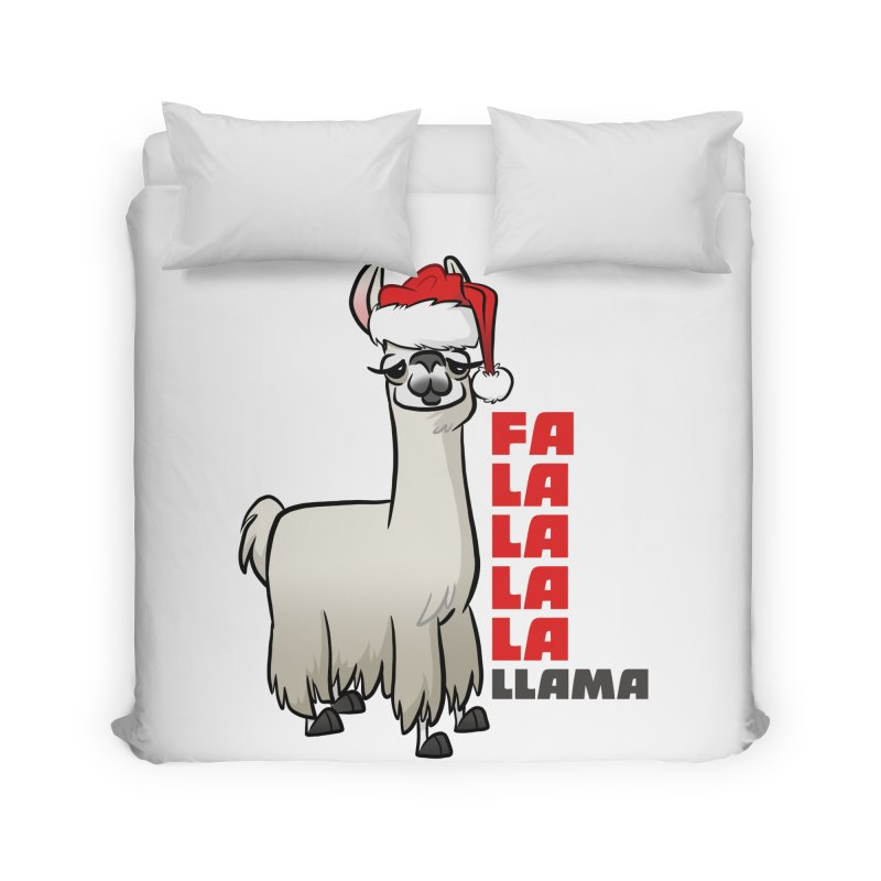 Fa La La Llama Home Duvet by binarygod's Artist Shop