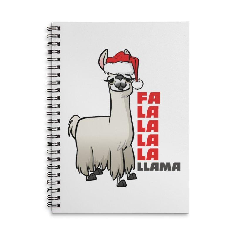 Fa La La Llama Accessories Lined Spiral Notebook by binarygod's Artist Shop