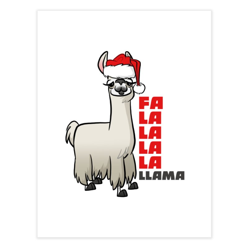 Fa La La Llama Home Fine Art Print by binarygod's Artist Shop