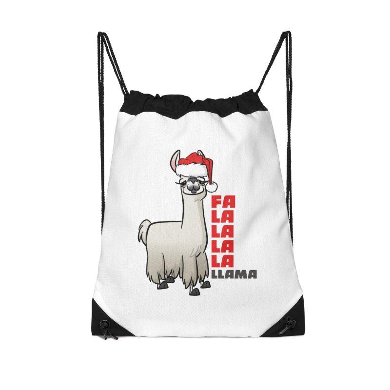 Fa La La Llama Accessories Drawstring Bag Bag by binarygod's Artist Shop