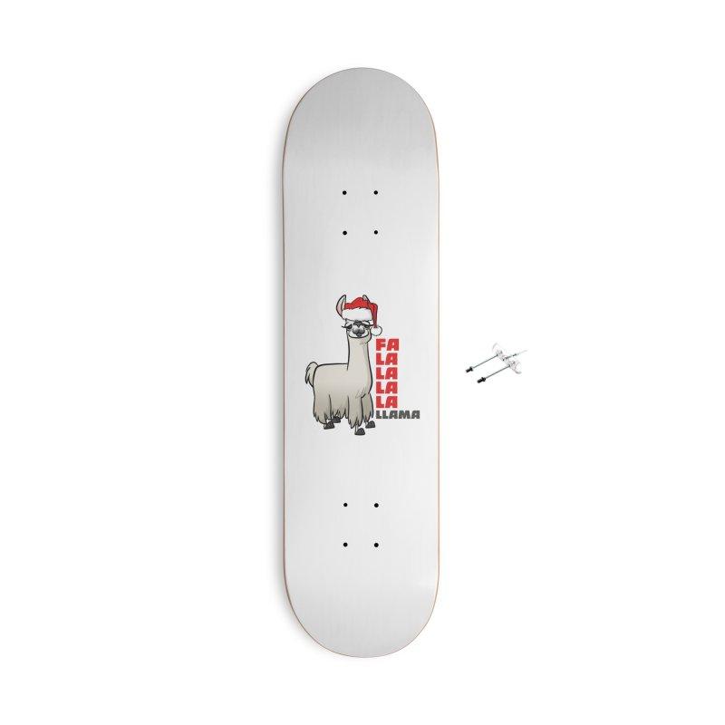 Fa La La Llama Accessories With Hanging Hardware Skateboard by binarygod's Artist Shop