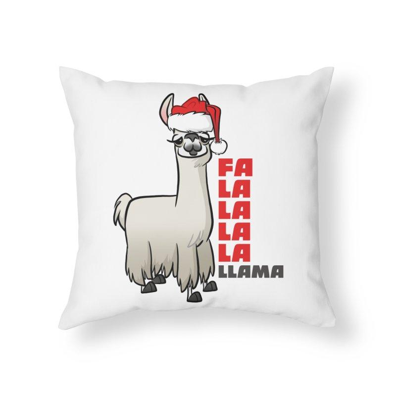 Fa La La Llama Home Throw Pillow by binarygod's Artist Shop