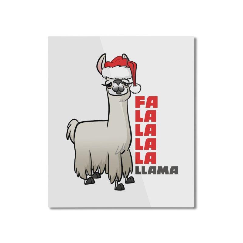 Fa La La Llama Home Mounted Aluminum Print by binarygod's Artist Shop