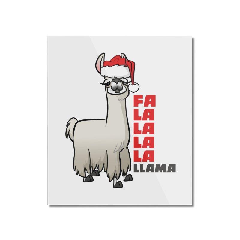 Fa La La Llama Home Mounted Acrylic Print by binarygod's Artist Shop
