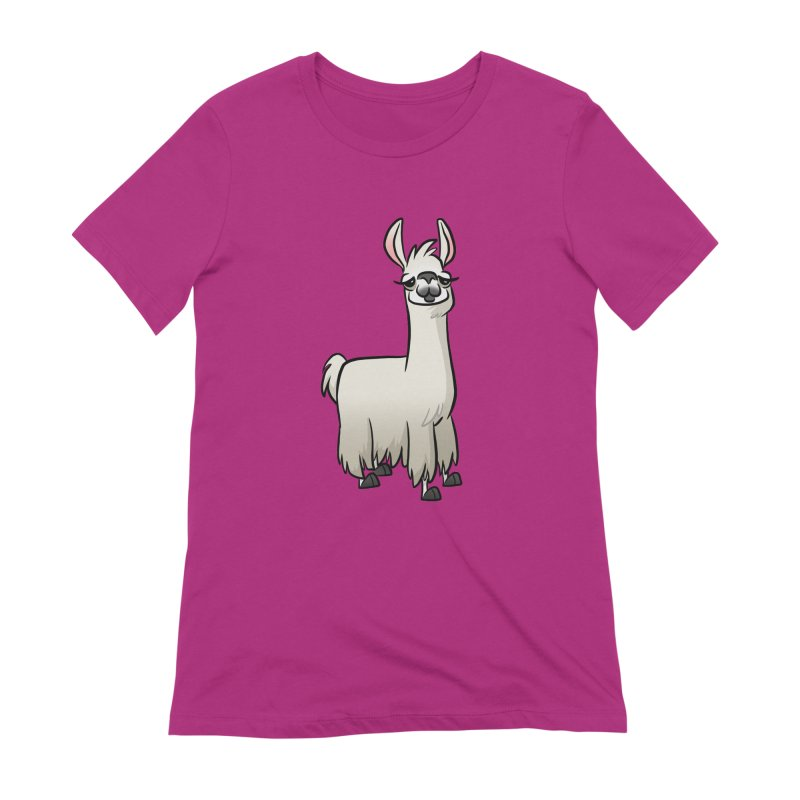 Llama Caricature Women's Extra Soft T-Shirt by binarygod's Artist Shop