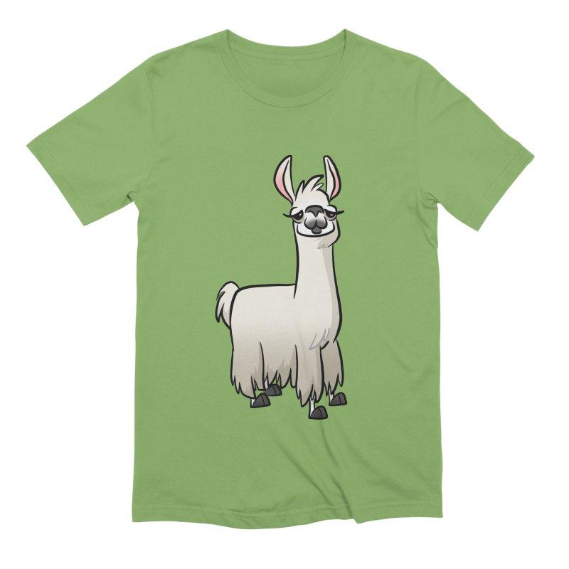 Llama Caricature Men's Extra Soft T-Shirt by binarygod's Artist Shop