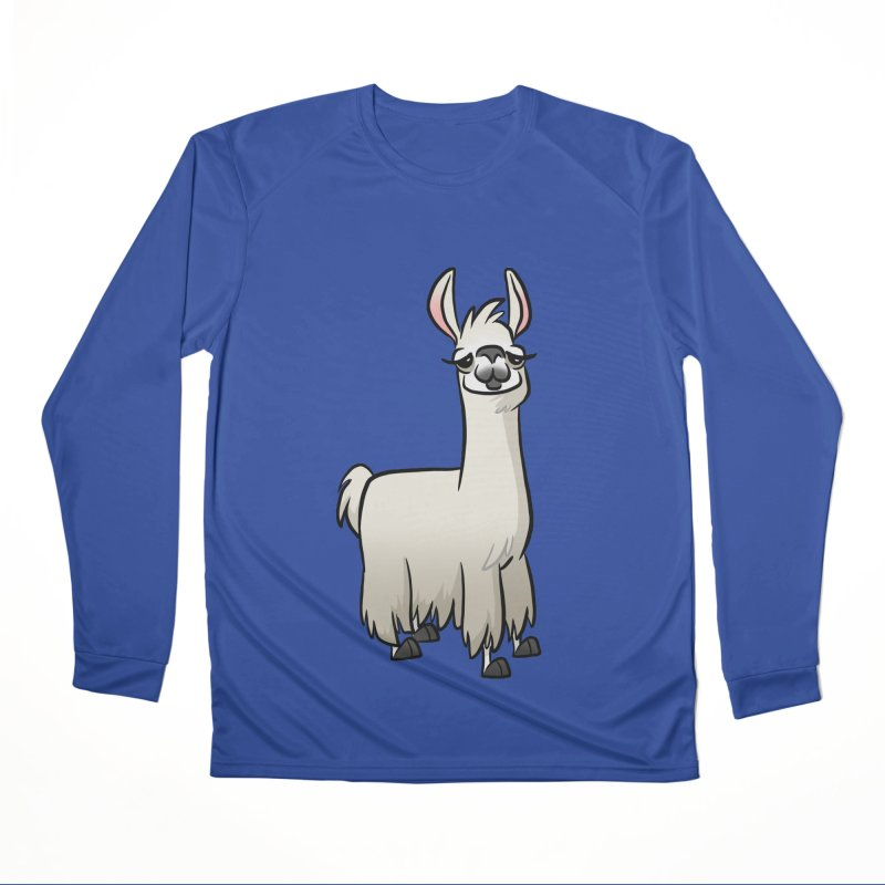 Llama Caricature Men's Performance Longsleeve T-Shirt by binarygod's Artist Shop
