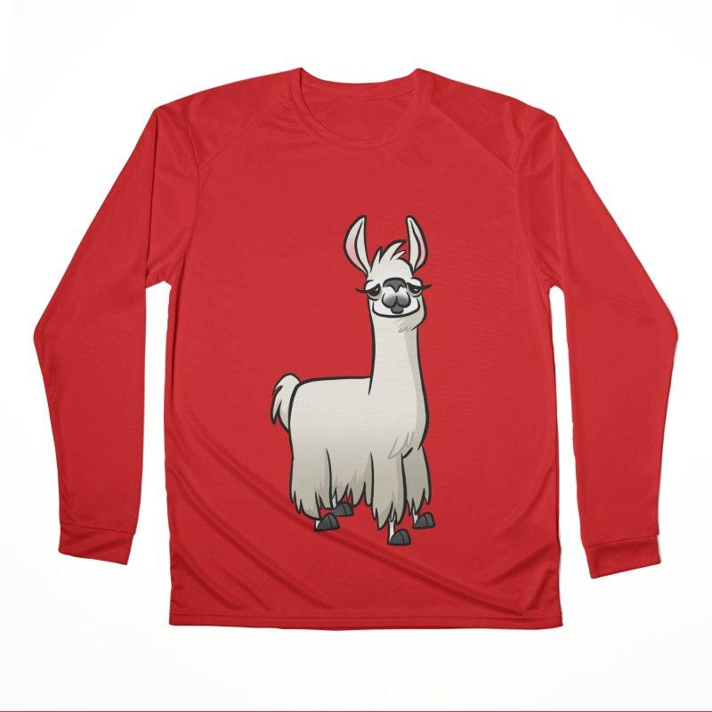 Llama Caricature Women's Performance Unisex Longsleeve T-Shirt by binarygod's Artist Shop