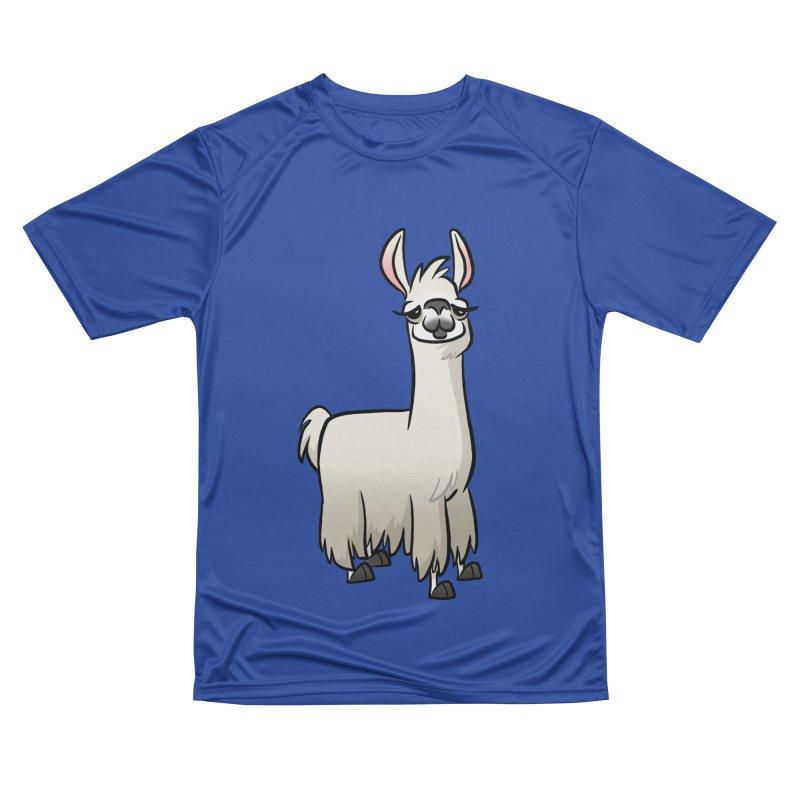 Llama Caricature Women's Performance Unisex T-Shirt by binarygod's Artist Shop